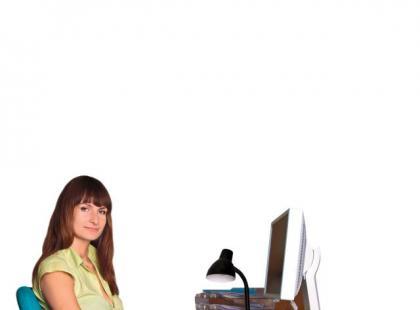 Właściwa postawa przy biurku