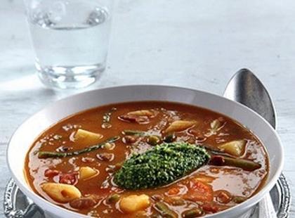 Włoska zupa-krem z makaronem - przepis