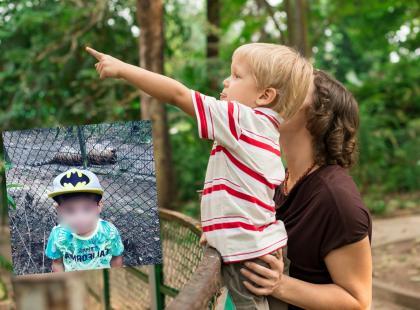 """Włożyła syna na wybieg tygrysów dla zdjęcia na Instagram. """"Skandaliczny brak mózgu"""" - komentują internauci"""