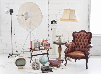 Wnętrze w stylu vintage