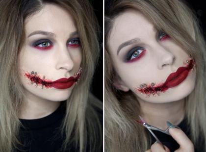 WOW! Przerażający makijaż na Halloween