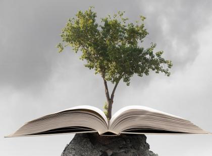 Wow! Zakop tę książkę w ziemi, a wyrośnie z niej drzewo