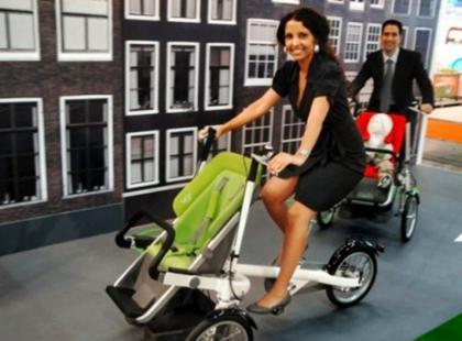 Wózek i rower w jednym