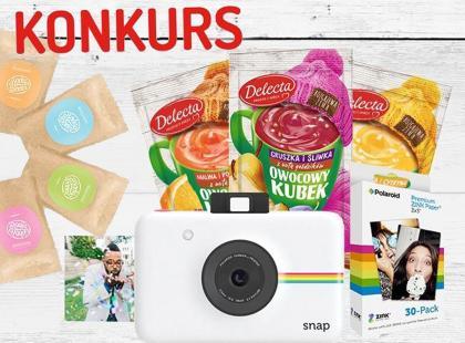 Wygraj aparat POLAROID Snap i zestaw peelingów Body Boom - Delecta rozdaje 50 nagród!