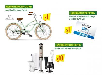 Wygraj piękny rower miejski i zakupy w Decathlonie!