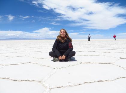 Wyobrażasz sobie pustynię nie z piasku, a z soli? Ona istnieje naprawdę i była na niej Beata Pawlikowska!