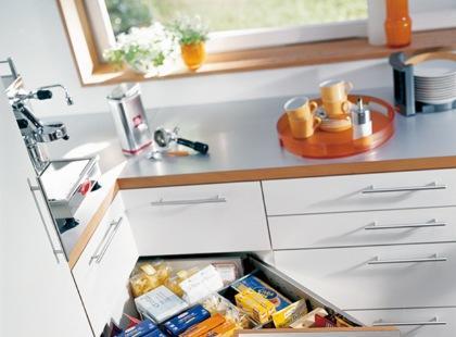 Wyposażenie kuchni - narożna szafka
