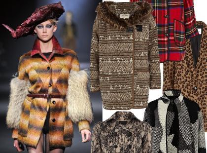 Wzorzyste płaszcze na wczesną zimę od 199 złotych