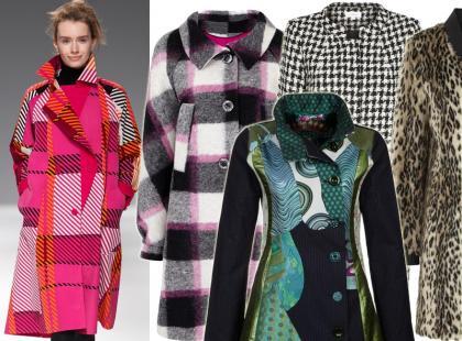 Wzorzyste płaszczyki dla szalonych fashionistek