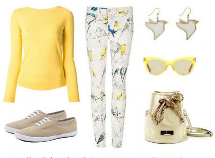 Wzorzyste spodnie w letnich stylizacjach
