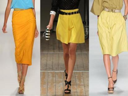 Z czym nosić żółtą spódnicę