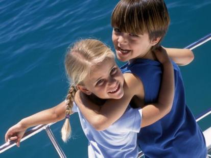Z dzieckiem na morzu