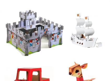 Zabawki z tektury – galeria
