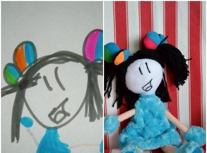 Zabawki zainspirowane dziecięcymi rysunkami