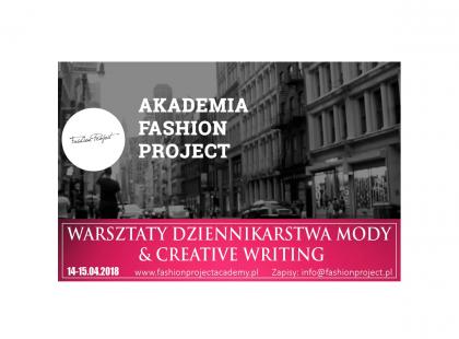 Zapraszamy na warsztaty Dziennikarstwa Mody & Creative Writing