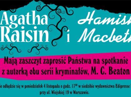 Zaproszenie na spotkanie z autorką kultowych powieści kryminalnych