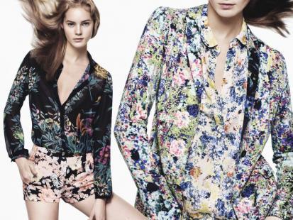 Zara - kwiatowe motywy w wiosennej kolekcji 2012