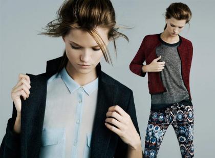 Zara listopadowy lookbook 2011 z Kasią Struss