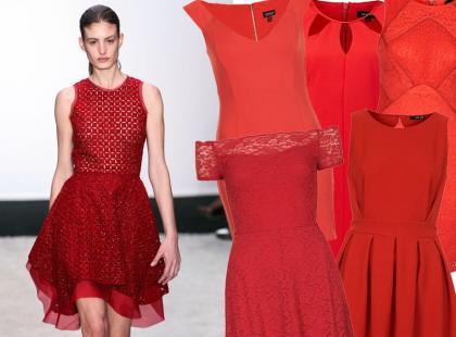 Zawsze sexy! Czerwona sukienka