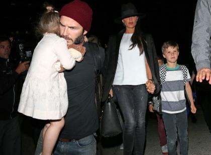 Zdenerwowani Beckhamowie z dziećmi. Para przeżywa gorsze chwile