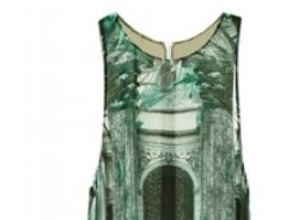 Zielona maxi sukienka- H&M wiosna 2013