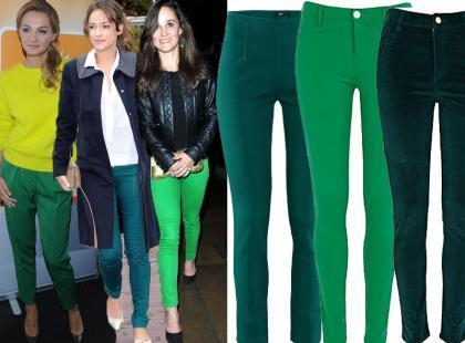 Zielone spodnie hitem wśród gwiazd