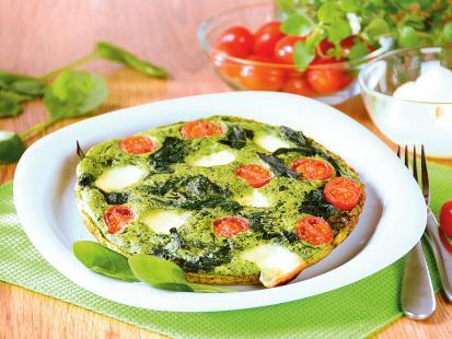 Zielony omlet szpinakowy