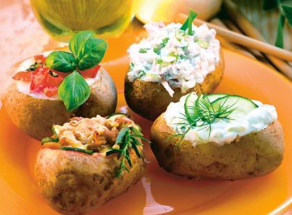Ziemniaki faszerowane czterema nadzieniami