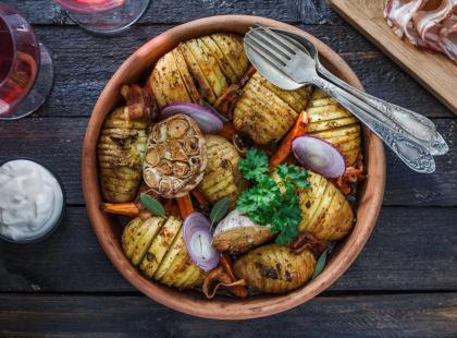 Ziemniaki pieczone z czosnkiem