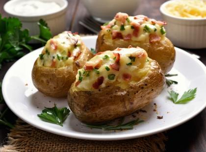 Ziemniaki z farszem ze szpinaku