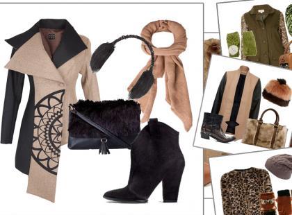 Zimowe zestawy ubrań w ciepłych kolorach