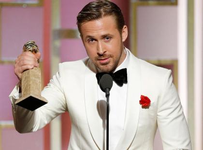 """Złote Globy 2017: padł rekord. """"La La Land"""" rozbił bank, Gosling żartował ze sceny, Meryl Streep uhonorowana"""