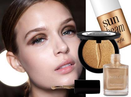 Złoty makijaż wiosna-lato 2014
