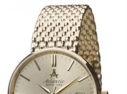 Złoty zegarek Atlantic