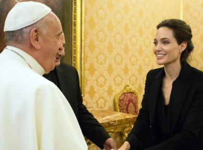 Znamy szczegóły spotkania Angeliny Jolie z papieżem!