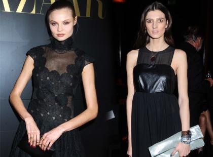 Znane polskie modelki w czarnych sukienkach maksi
