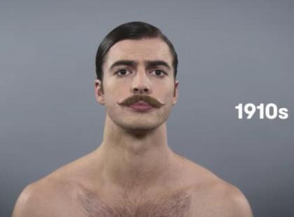Zobacz, jak zmieniał się kanon męskiego piękna na przestrzeni 100 lat! To zaskakujące!