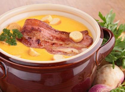 Zupa-krem z dyni na słono - przepis