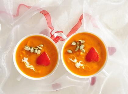 Zupa-krem z dyni pachnący curry