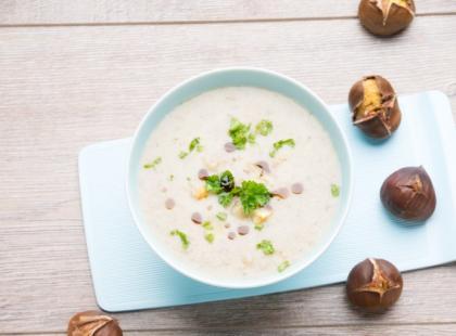 Zupa-krem z kasztanów – przepis
