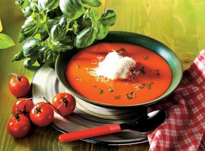 Zupa krem ze świeżych pomidorów - krok po kroku