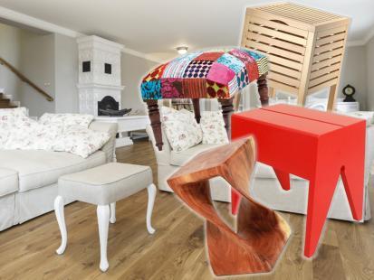 Zwariowane stołki i taborety - nie tylko do kuchni!