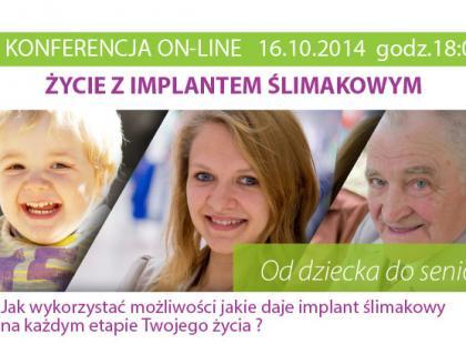 Życie z implantem ślimakowym – konferencja on-line