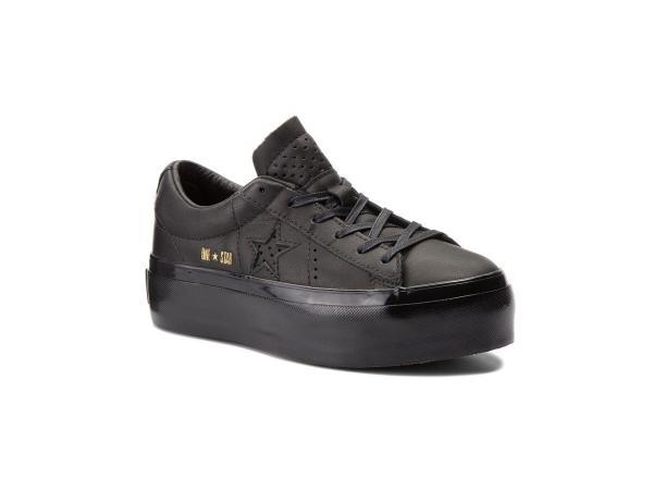 Czarne sneakersy na platformie, Converse, cena: 299,00 zł