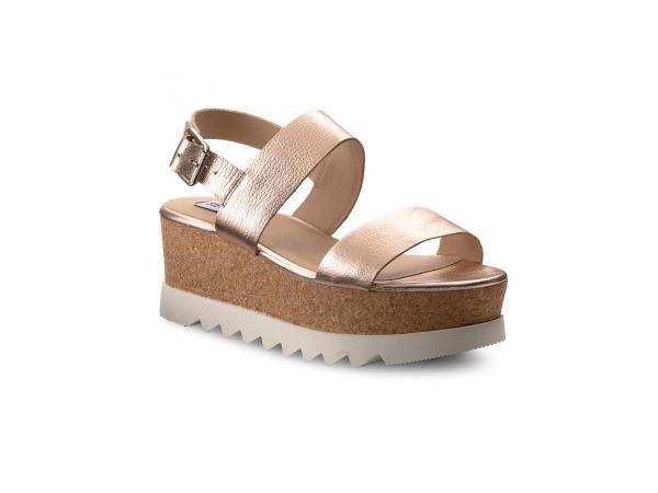 Metaliczne sandały na platformie, Steven Madden, cena: 289,00 zł