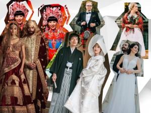 Biała suknia nie zawsze jest tradycyjnym strojem ślubnym! Zobacz, jak wyglądają pary młode na całym świecie!