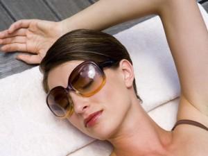 okulary słoneczne, słońce, cień, opalenizna