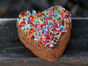 Ciasto czekoladowe w kształcie serca