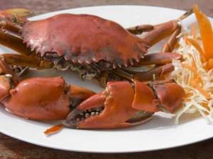 Gotowanie i jedzenie kraba