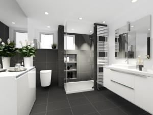 Imitujące drewno, szare, białe, wielkoformatowe... Jak wybierać płytki łazienkowe?